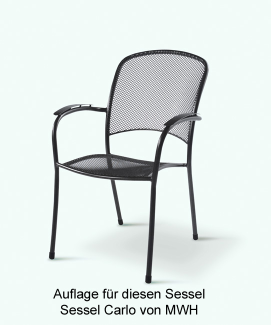 auflage f r sessel carlo von mwh im dessin 1008 gartenm bel jendrass. Black Bedroom Furniture Sets. Home Design Ideas