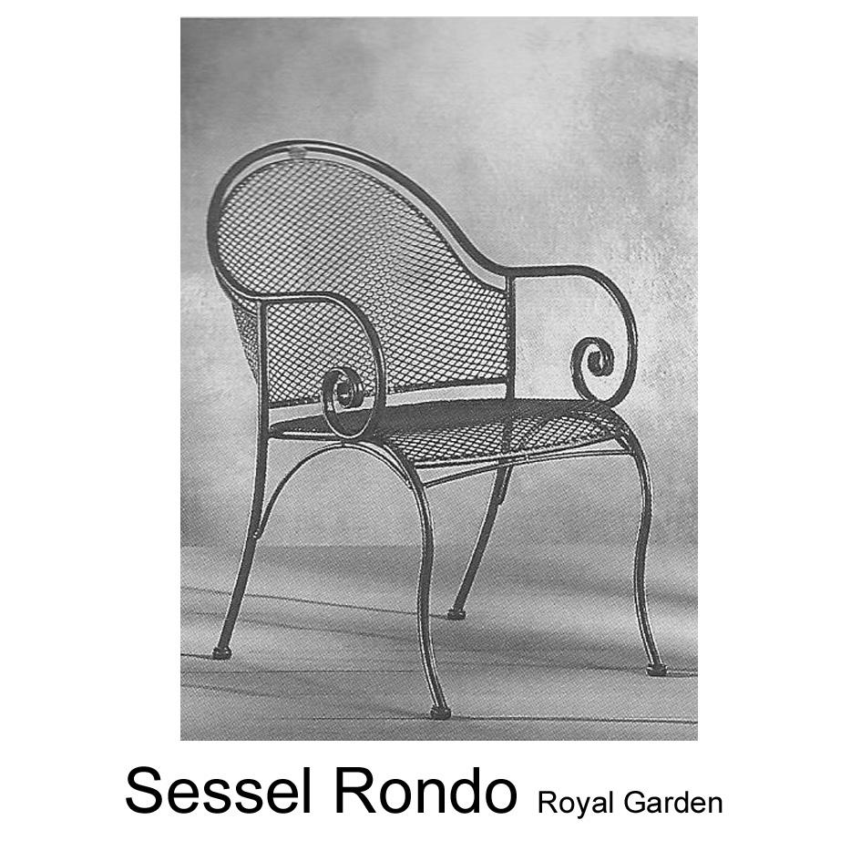 Auflage für Sessel Rondo von Royal Garden im Dessin 1700 bei ...