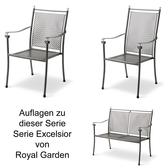 auflage f r sessel excelsior balero domino und sirio von royal garden im dessin 3036. Black Bedroom Furniture Sets. Home Design Ideas