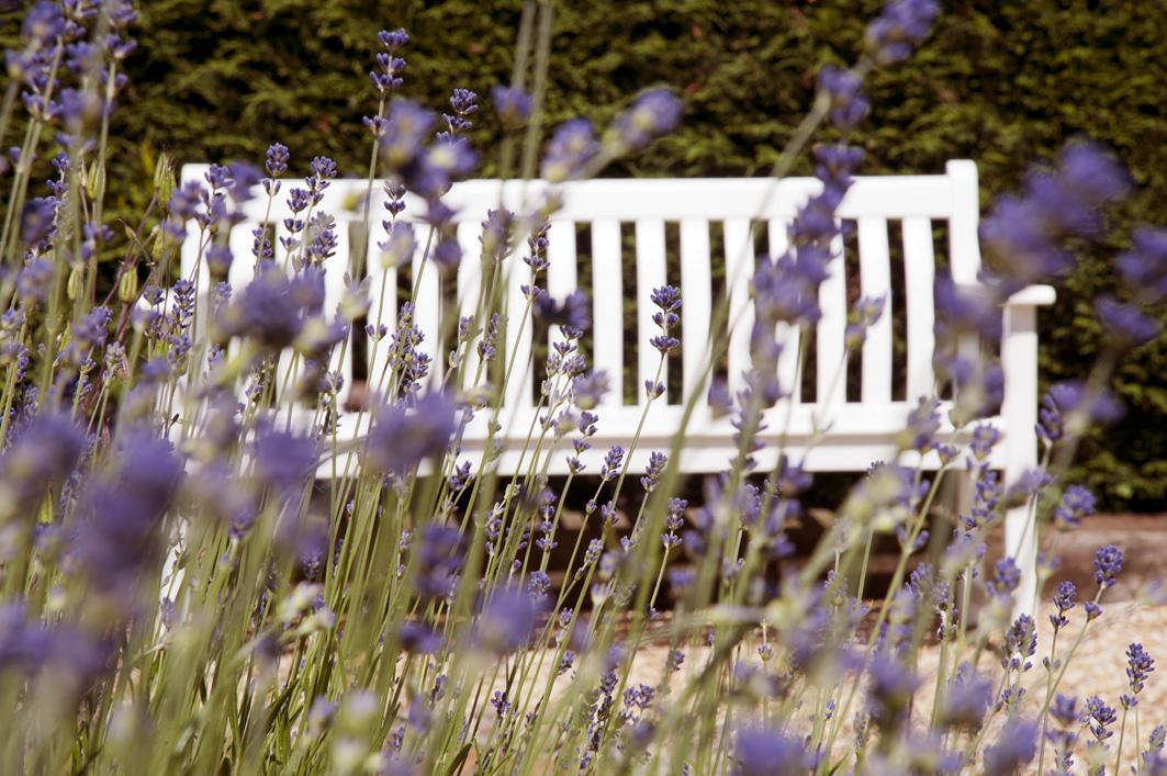 Bank Broadfield in weiss 3sitzer aus Eukalyptusholz (Gartenmöbel ...