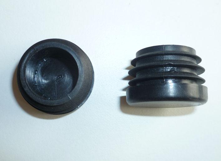 Fuss-Stopfen rund 25mm - Windungen 22 mm schwarz (Ersatzteile und ...