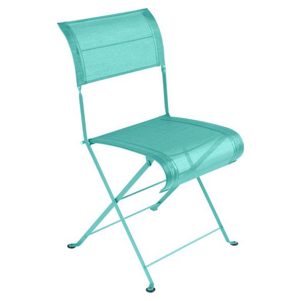 Stuhl oder Sessel Dune in lagunenblau in der Auswahl wählbar Stahlgestell Outdoorgewebe