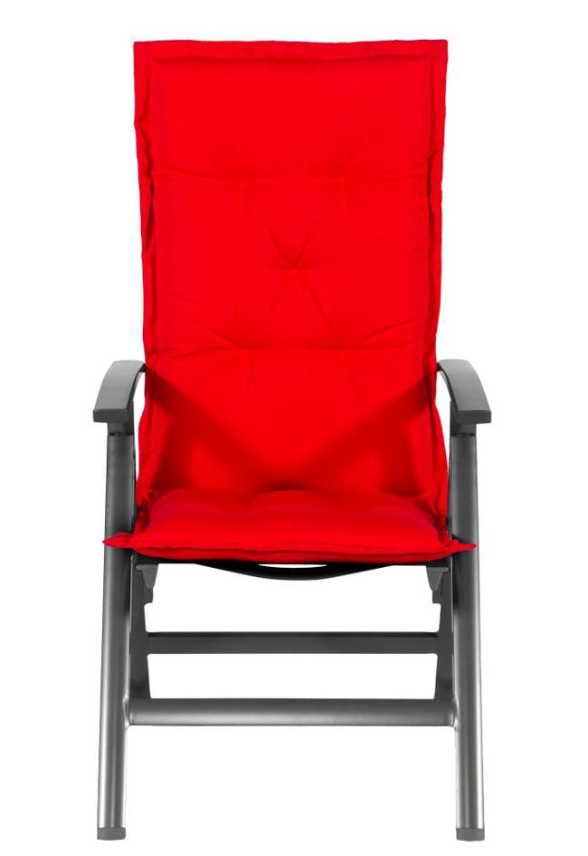 auflage f r sonnenliege oder gartenliege in rot im dessin havana gartenm bel jendrass. Black Bedroom Furniture Sets. Home Design Ideas