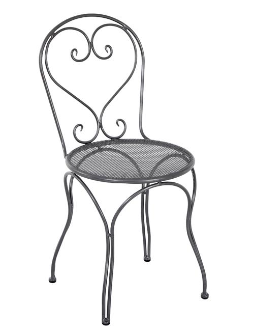 Mwh Stuhl Caffeo - der filigrane Eisenstuhl - Gartenmöbel Jendrass