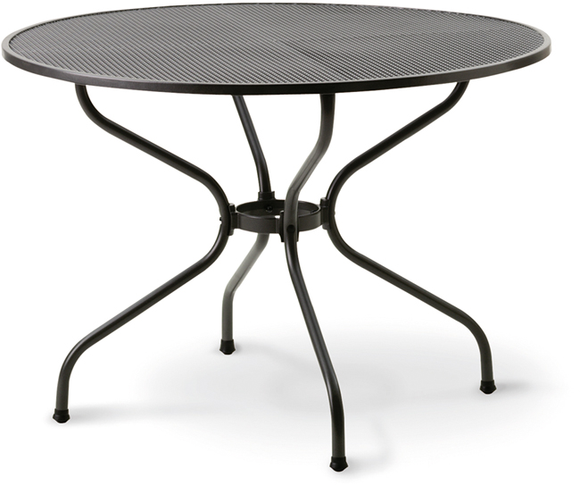 streckmetalltisch 105 cm eisengrau gartenm bel jendrass. Black Bedroom Furniture Sets. Home Design Ideas