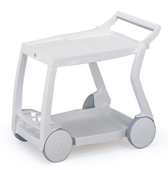 Best Servierwagen Galileo in weiss - Vollkunststoff - Gartenmöbel ...