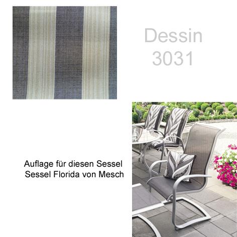 mesch auflage f r serie florida im dessin 3031 gartenm bel jendrass. Black Bedroom Furniture Sets. Home Design Ideas