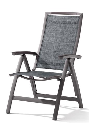 klappsessel trento von sieger im farbton eisengrau silber aus aluminium und gewebe gartenm bel. Black Bedroom Furniture Sets. Home Design Ideas