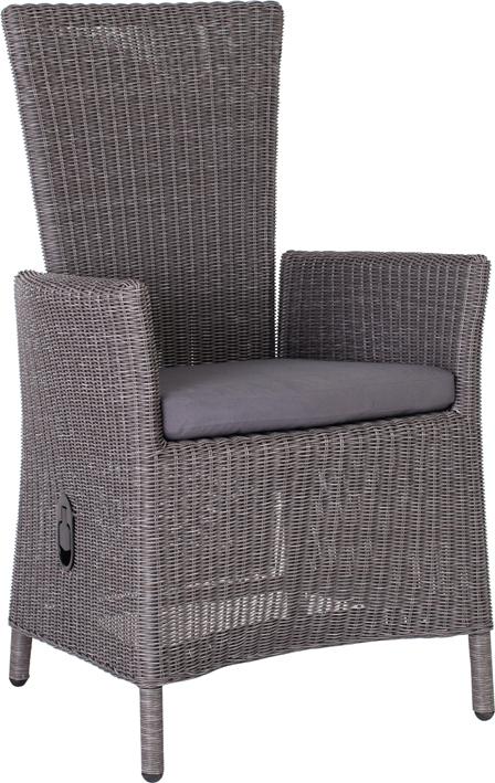sessel sortino im r cken verstellbar im farbton basaltgrau von stern inklusive einer auflage mit. Black Bedroom Furniture Sets. Home Design Ideas