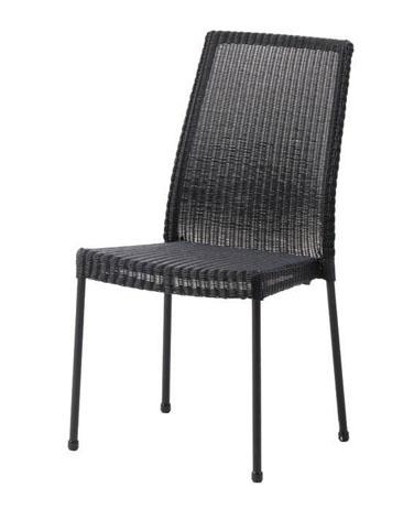 stuhl newport ohne armlehne schwarz stahlrohr beschichtet mit polyrattan rattan und. Black Bedroom Furniture Sets. Home Design Ideas