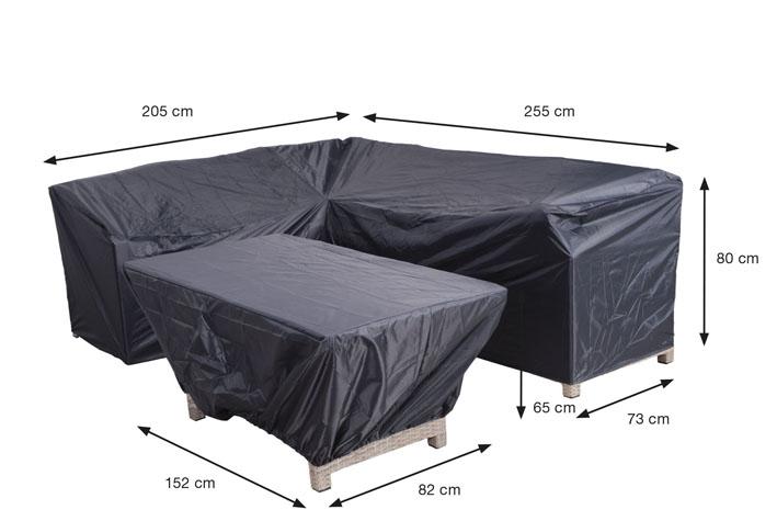 Abdeckhaube 2er Pack Für Loungemöbel, Zwei Verschiedene Planen  205/255x73x80 + 152x82x65 Cm 100