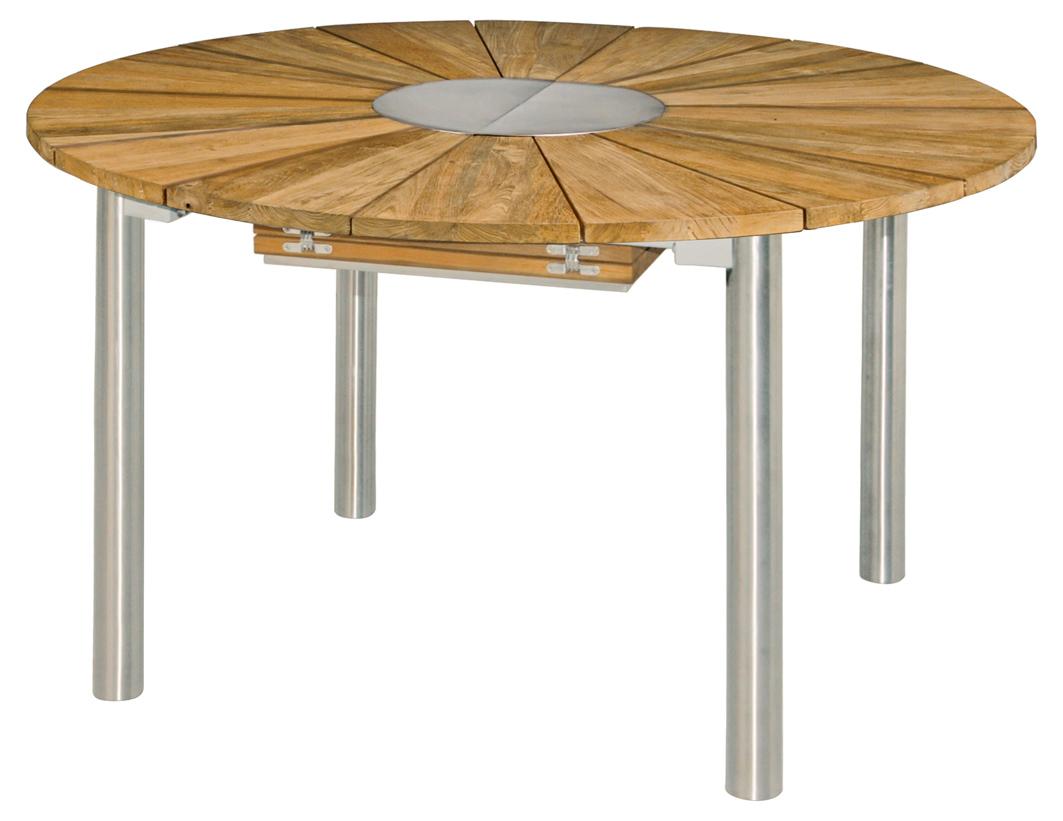 ausziehtisch catax f r den garten von rund auf oval 135 cm auf 185x135cm mit einem. Black Bedroom Furniture Sets. Home Design Ideas