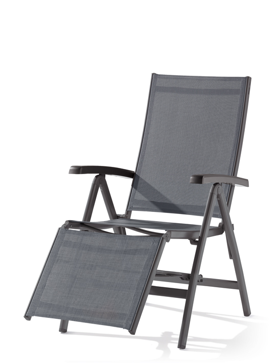 Relax Liegestuhl Bodega von Sieger im Farbton grau-silbergrau aus ...