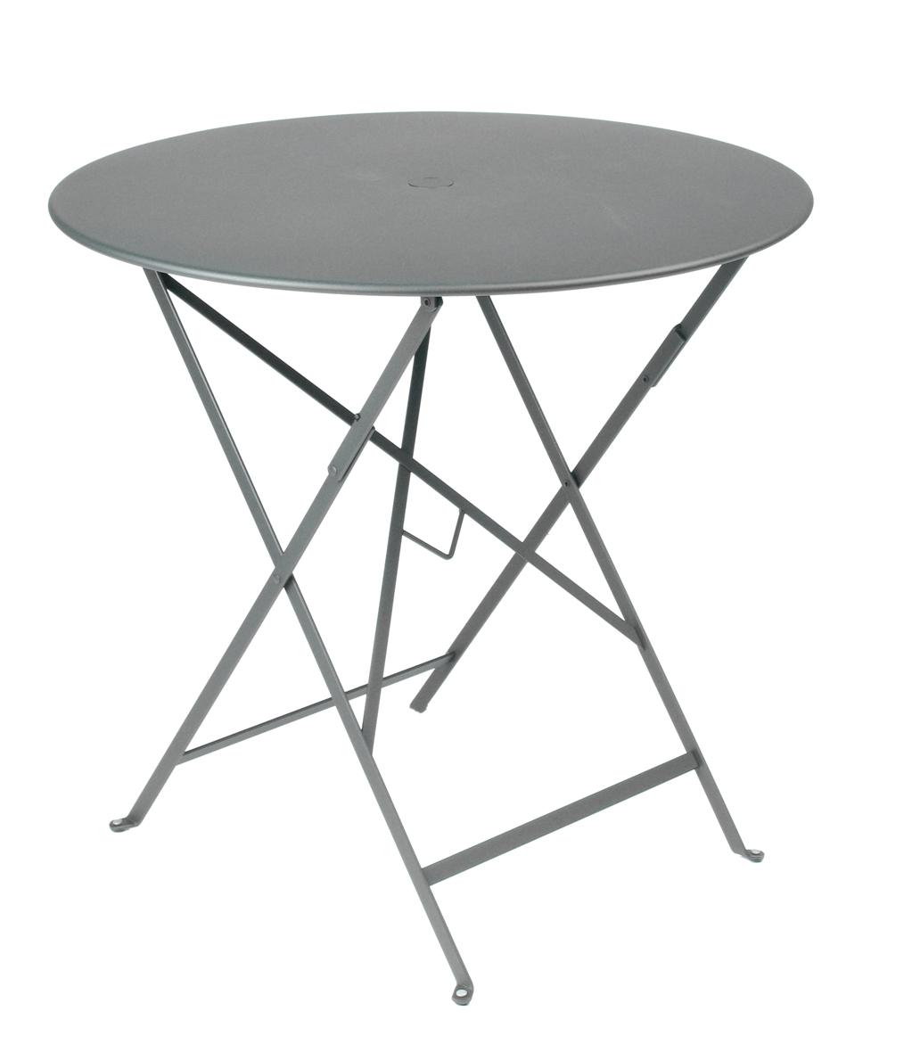 Tisch Bistro Floreal in gewittergrau versch. Größen wählbar, Stahlgestell beschichtet