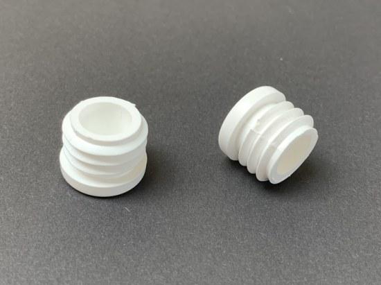 Jendrass Fuss-Stopfen rund 20 mm - Gewinde 19 mm weiss