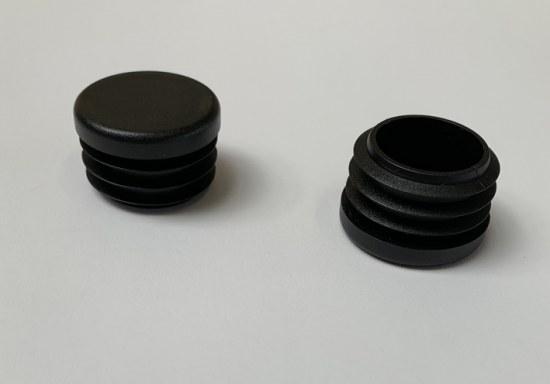 Jendrass Fuss-Stopfen rund 30mm - Gewinde 28 mm schwarz