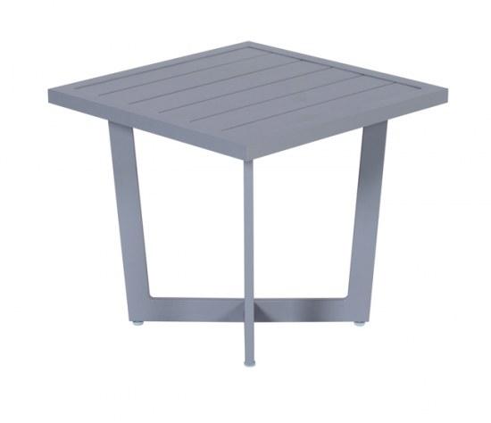 Gardenimpressions Beistelltisch Ivy 47,5x47,5x42 cm - Aluminium in arctic grey