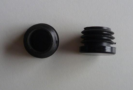 Royal Garden Stopfen rund 22 mm schwarz