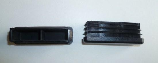 Royal Garden Fuss-Stopfen eckig 50x15 mm schwarz