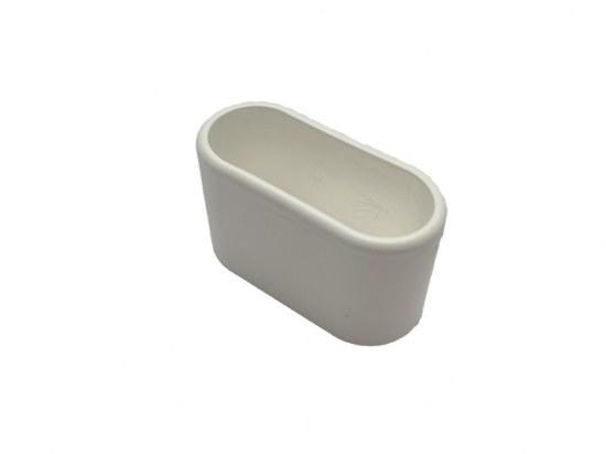 Fußkappe 50x20 mm für Chalet oval in weiss und schwarz, passend zu Chalet MWh