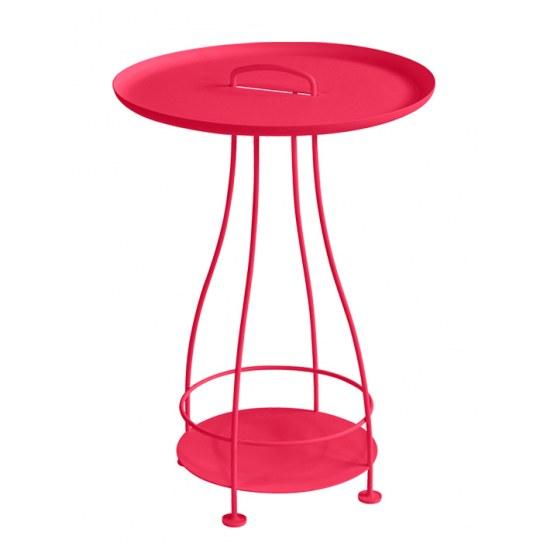 Fermob Kleiner Tisch Happy Hours - in rose praline, Stahl mit Aluplatte