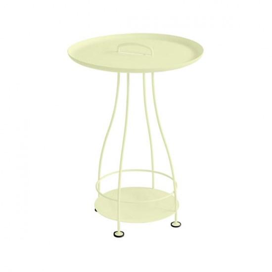 Fermob Kleiner Tisch Happy Hours - in Zitronensorbet Stahl mit Aluplatte