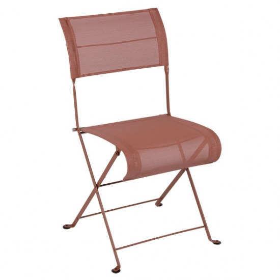 Fermob Stuhl oder Sessel Dune in STEREO ockerrot in der Auswahl wählbar Stahlgestell / Sitzbezug 100% Polyester