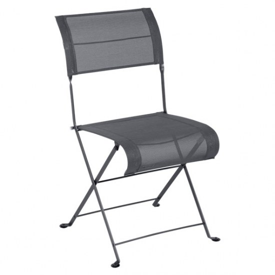 Fermob Stuhl oder Sessel Dune in STEREO anthrazit in der Auswahl wählbar Stahlgestell / Sitzbezug 100% Polyester