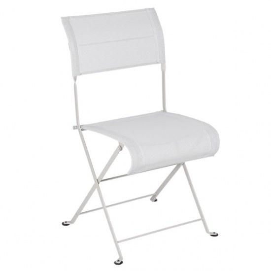 Fermob Stuhl oder Sessel Dune in STEREO lehmgrau in der Auswahl wählbar Stahlgestell / Sitzbezug 100% Polyester