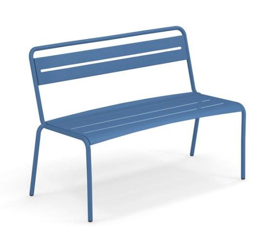 EMU Gartenbank Star in blau, Stahl pulverbeschichtet