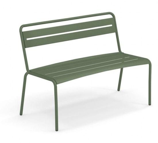 EMU Gartenbank Star in grün, Stahl pulverbeschichtet