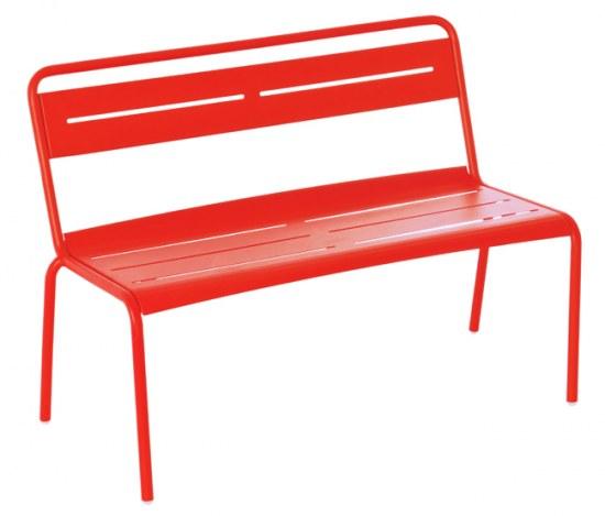 EMU Gartenbank Star in rot, Stahl pulverbeschichtet