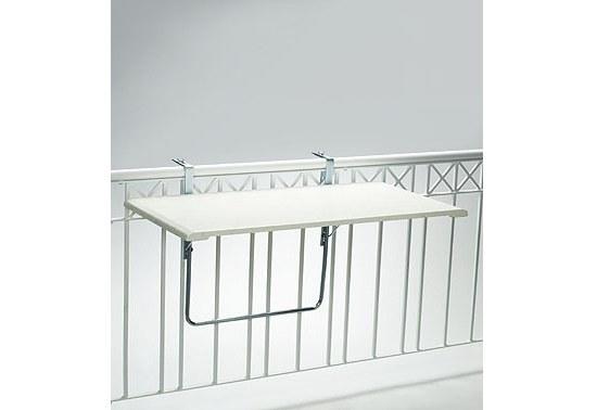Videx Balkonklapptisch 102x51 cm rechteckig, Werzalitplatte Dekorplatte terrazzo