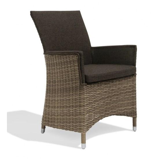 sessel goa in khaki aluminiumrahmen mit. Black Bedroom Furniture Sets. Home Design Ideas