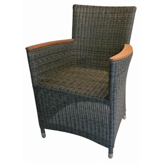 Zebra Sessel Status grau-schwarz - Alu mit Kunststoffgeflecht