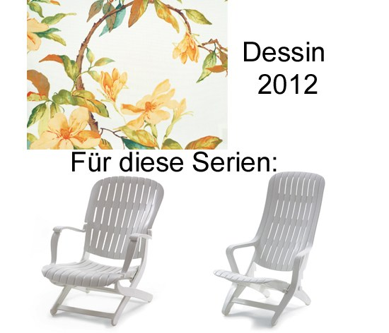 Auflage Sessel Estanza / Tangor Allibert Des. 2012 100% Polyester
