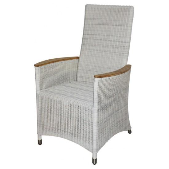 Zebra Sessel Loomus Relax silkwhite - Aluminium/Kunststoffgeflecht