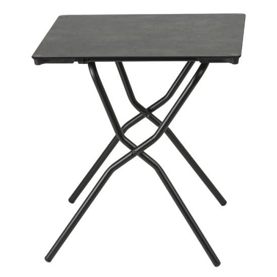 Lafuma Gartentisch Anytime 64x68 cm Farbe schwarz /mineral Stahlgestell mit HPL Platte