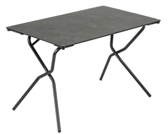 Lafuma Gartentisch Anytime 110x68 cm Farbe schwarz mineral Stahlgestell mit HPL Platte