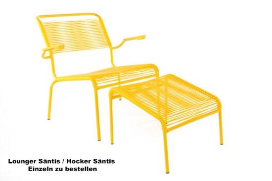 Schaffner Lounge Sessel Spaghetti in gelb