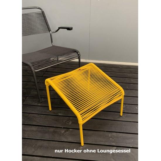 Schaffner Lounge Hocker Spaghetti in gelb