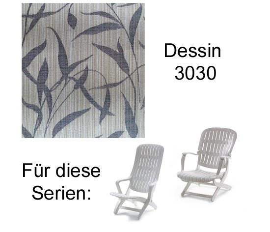 Melegant Auflage Sessel Estanza / Tangor Allibert Des. 3030 100% Polyacryl