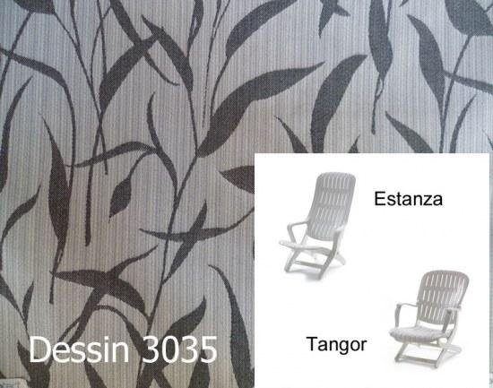Melegant Auflage Sessel Estanza / Tangor Allibert Des. 3035 100% Polyacryl
