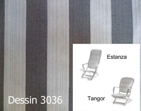Melegant Auflage Sessel Estanza / Tangor Allibert Des. 3036 100% Polyacryl