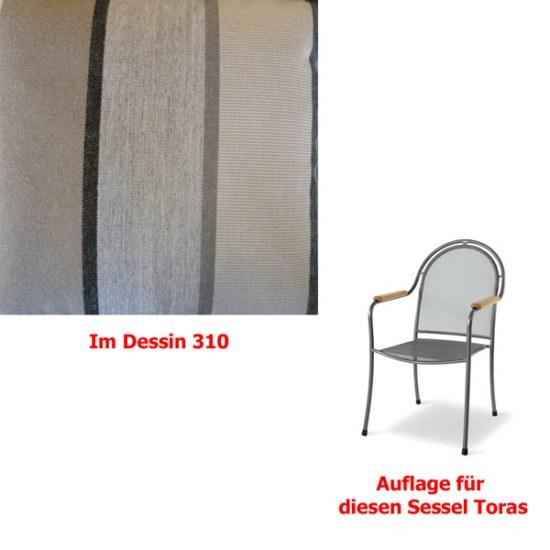 Melegant Auflage zu Sessel Toras Des.310 100% Polyacryl
