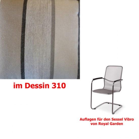 Melegant Auflage für Sessel Vibro Des.310 100% Polyacryl