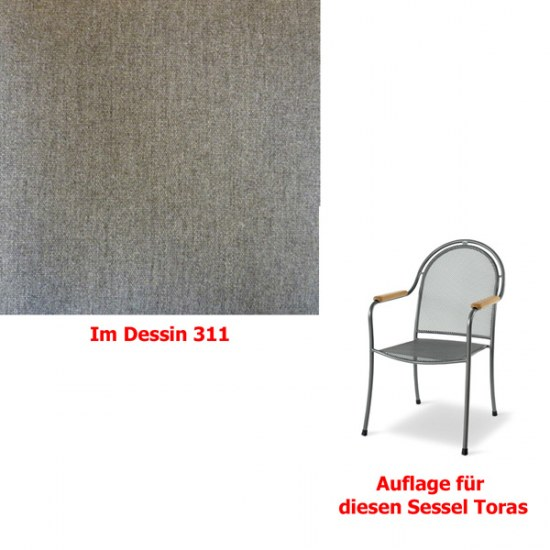 Melegant Auflage zu Sessel Toras Des.311 100% Polyacryl