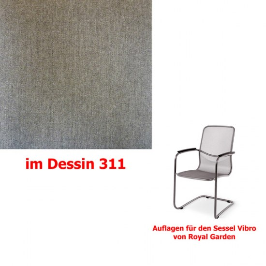 Melegant Auflage für Sessel Vibro Des.311 100% Polyacryl
