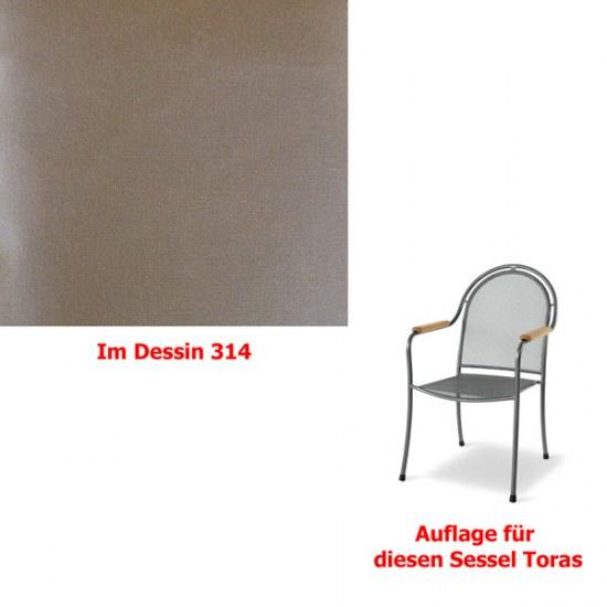 Melegant Auflage zu Sessel Toras Des.314 100% Polyacryl