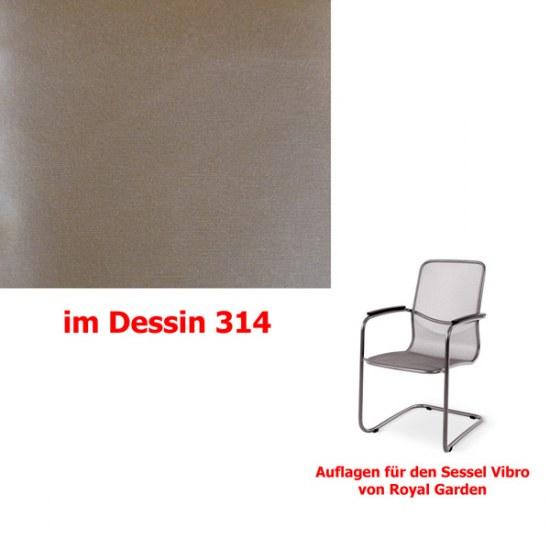 Melegant Auflage für Sessel Vibro Des.314 100% Polyacryl